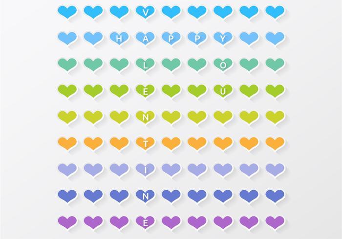 Fond d'écran PSD colorée de Valentine de coeur
