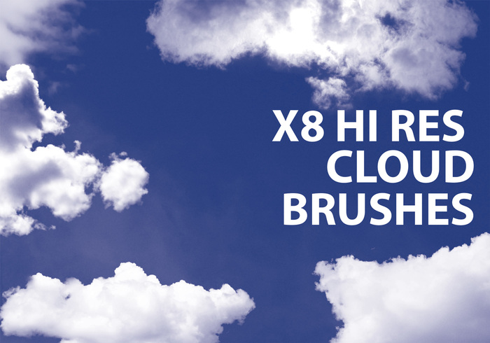 Photoshop Cloud Brushes mit kommerzieller Lizenz Volumen 1