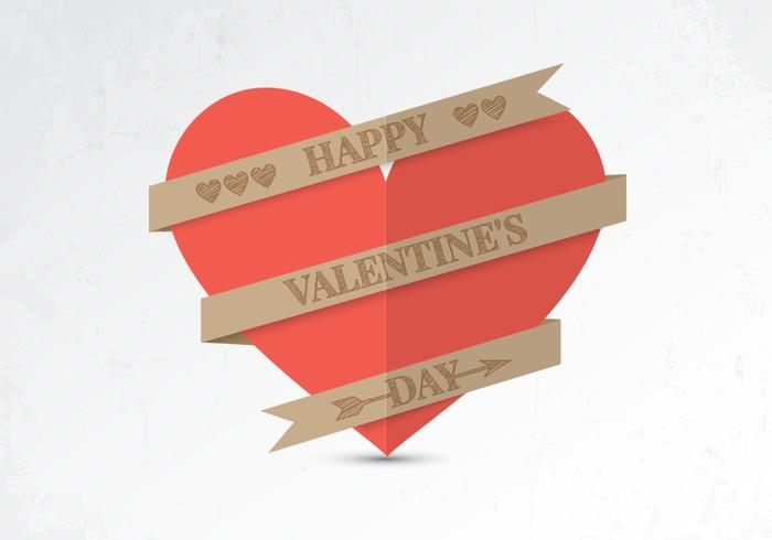 Paper Valentine Heart PSD Background