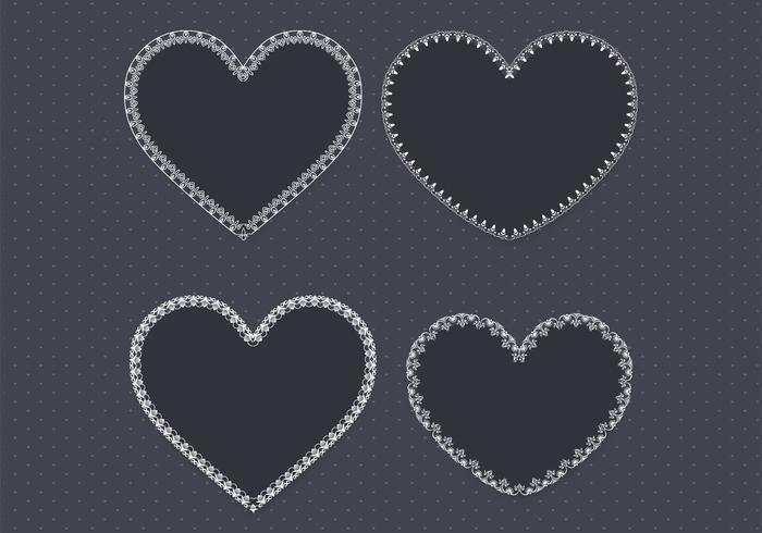 Svart Lace Heart PSD Pack