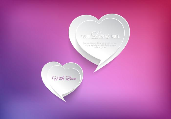 Speech Bubble Heart PSD Background