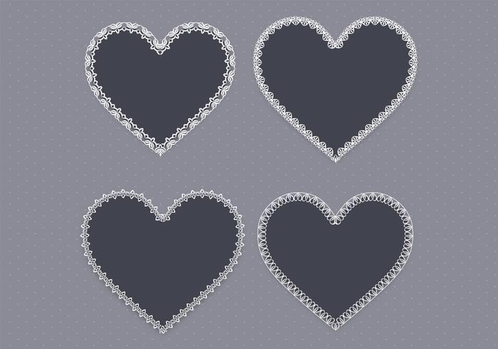 Svart Lace Heart PSD Pack Two