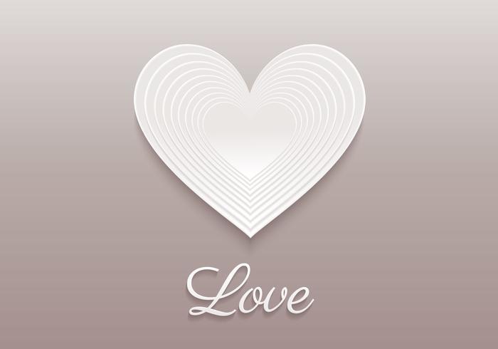 Layered Heart PSD Hintergrund