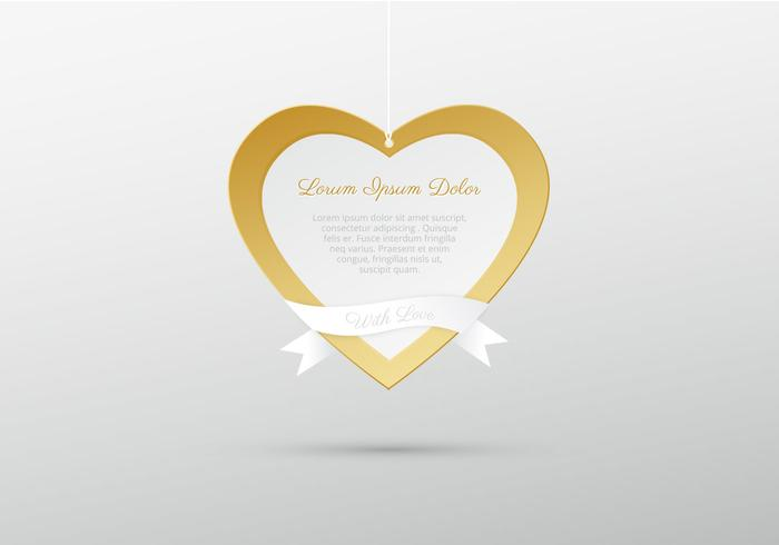Hanging Golden Heart PSD Background