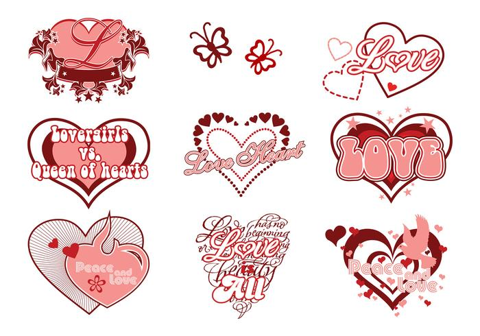 Love and Heart Brushes Pack