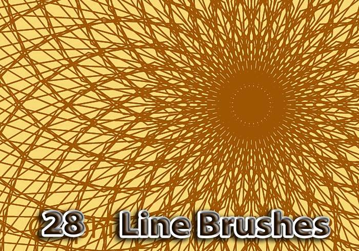 28 Graphic Line Brushes