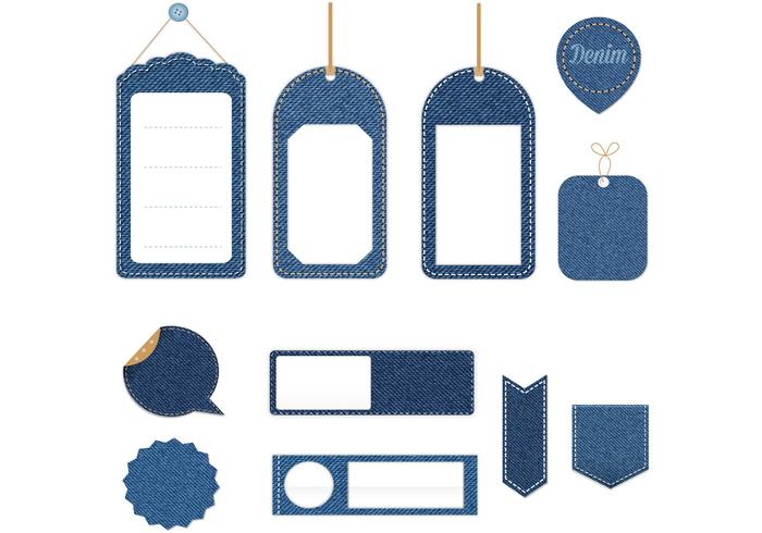 Disque psd de denim tag