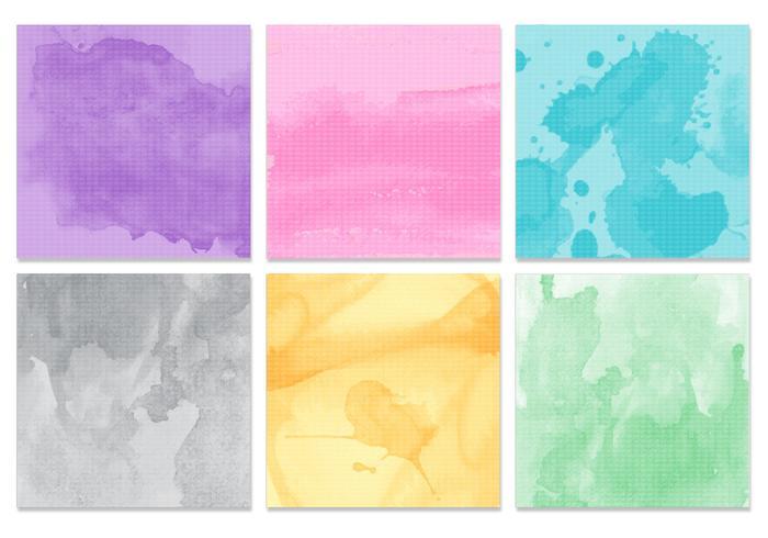 Pacote PSD de textura aquarela