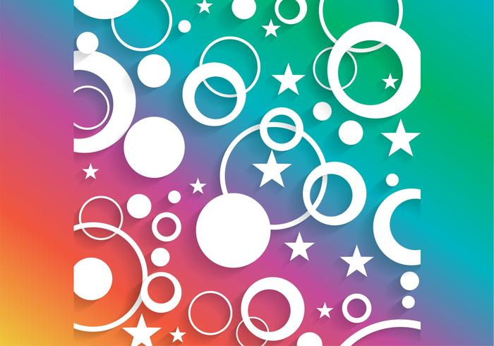 Bright Circle en Star Background PSD