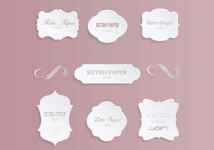 Vintage label PSD Pack