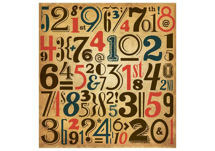 Vintage Number Background