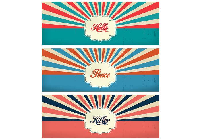 Vintage Sunburst Timeline Cover Backgrounds