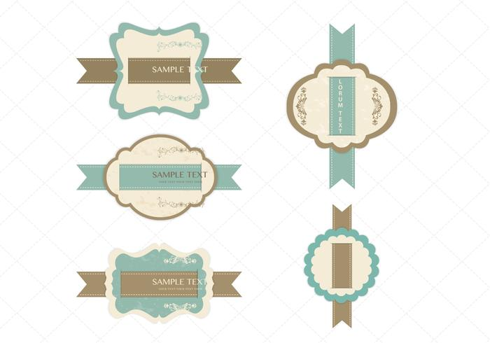 Vintage Ribbon Label PSD Pack