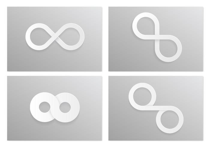 Vita oändlighet psd symboler