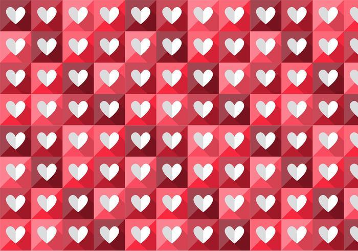 Patrón de corazón plegado