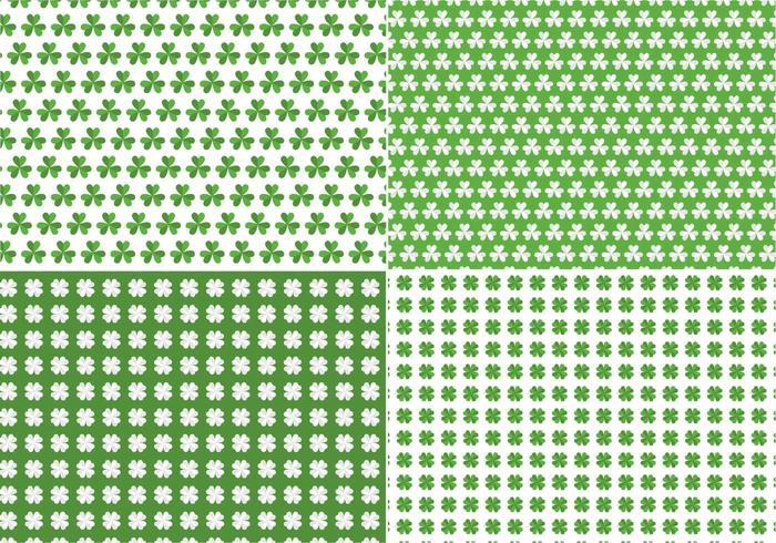 Paquete de patrones de trébol transparente