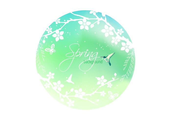 Spring Blossom Background PSD