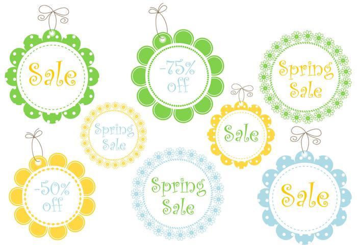 Tag floral da venda da primavera psds