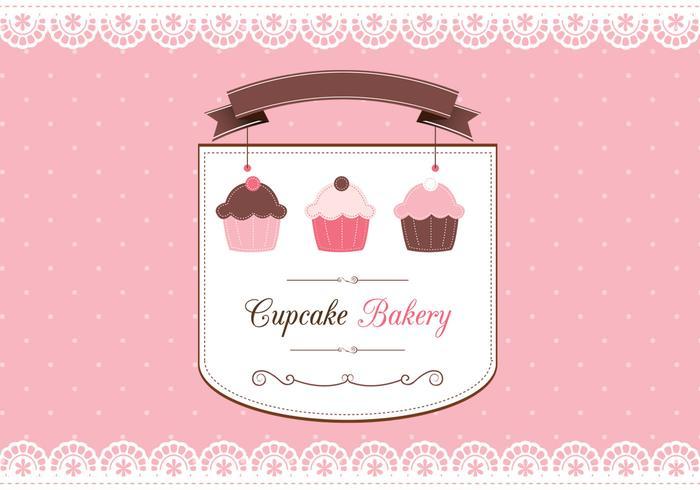 Cupcake scrapbook card psd