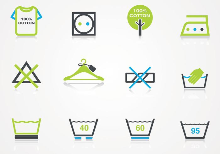 Wäsche Icons PSD