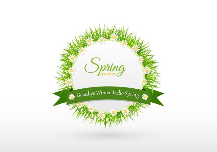 Goodbye Winter Spring Banner PSD