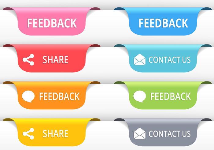 Feedback Tab Buttons PSD