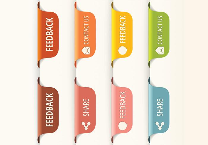 Vertical Feedback Tab Buttons PSD
