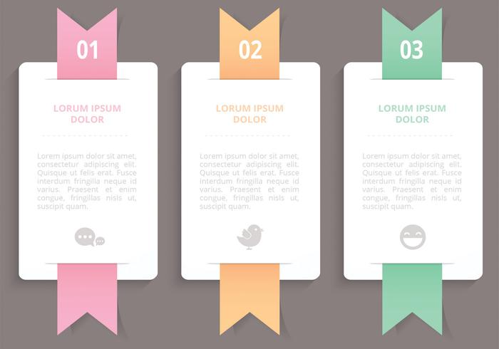 Vertical Ribbon Banners PSD