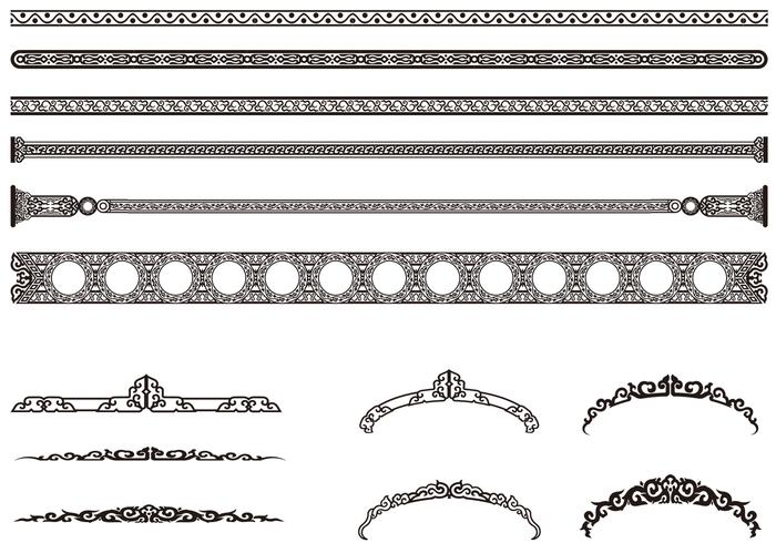 Decorative Vintage Border Brushes Pack
