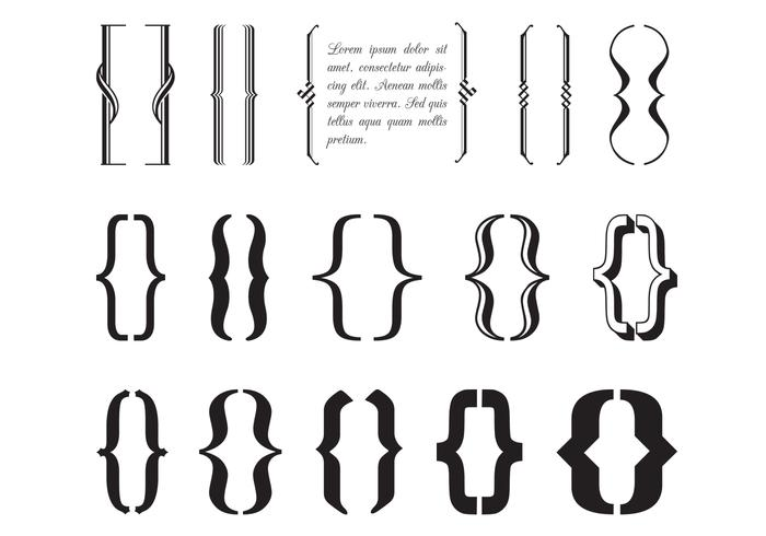 Pinceaux à broches Typographie