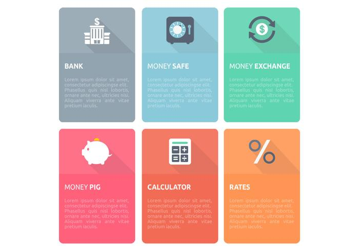 Bank Finance Design Mall PSD Set