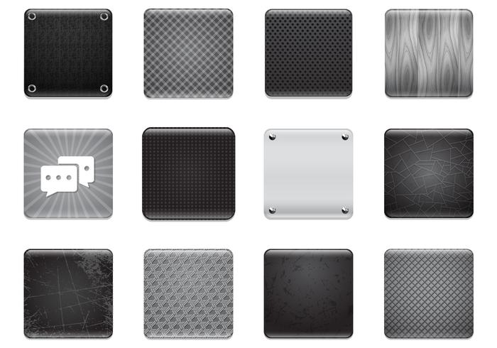 Black & Grey Apps Hintergrund PSD Set