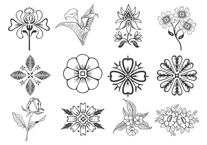 Floral Design Elemente PSD Pack