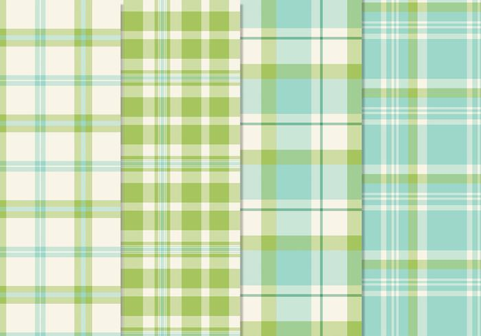 Färska Blågrön sömlös Plaid Patterns PSD
