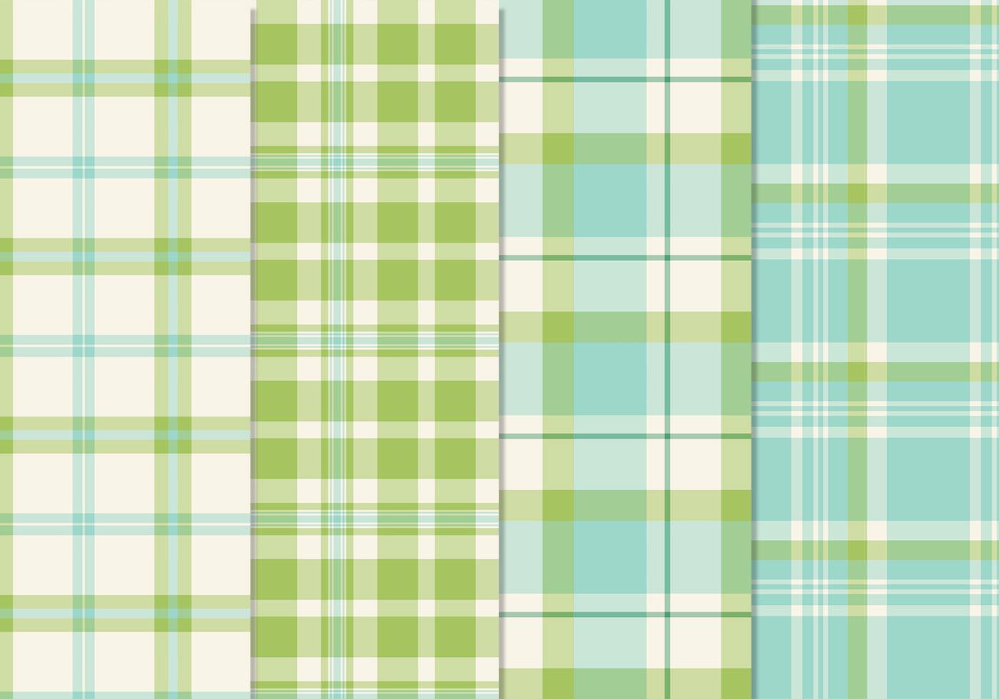 Fresh Blue Green Seamless Plaid Patterns PSD - Free ...