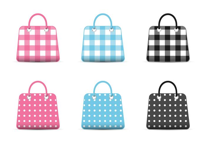 Girly Fashion Bag Pictogrammen PSD