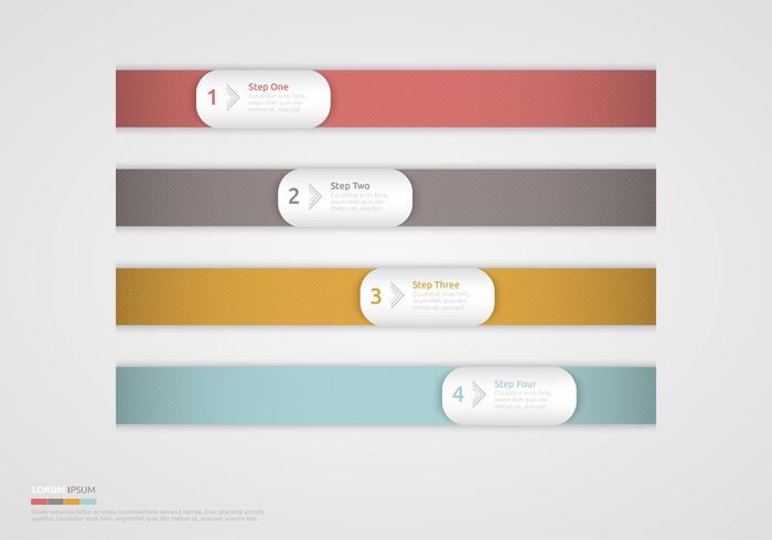 Horizontale moderne Bandschritte Design PSD Set
