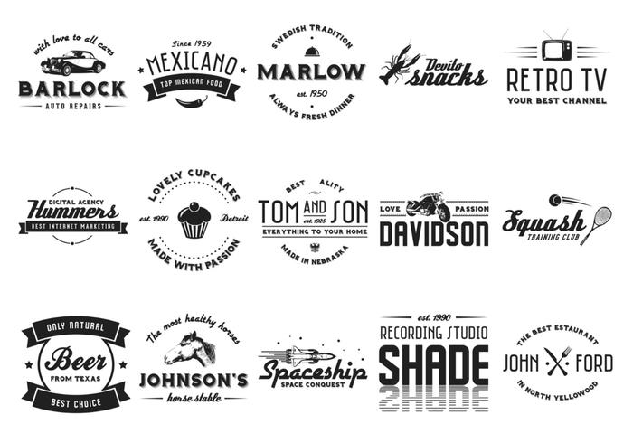 Vintage Badge Pinsel und PSD Pack