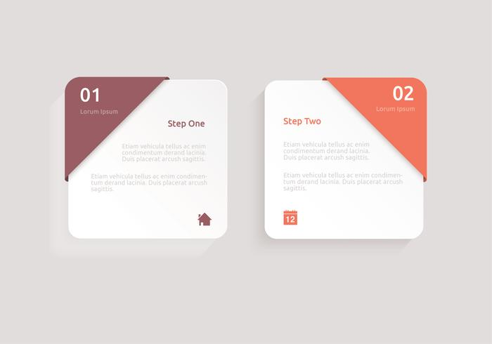 Modern vierkant label psd pack