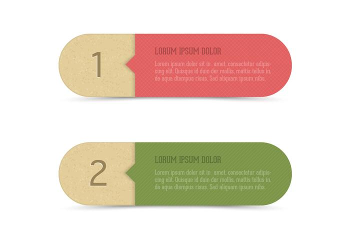 Recycled Paper Banner Set PSD
