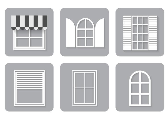 Fenster Icons PSD Set