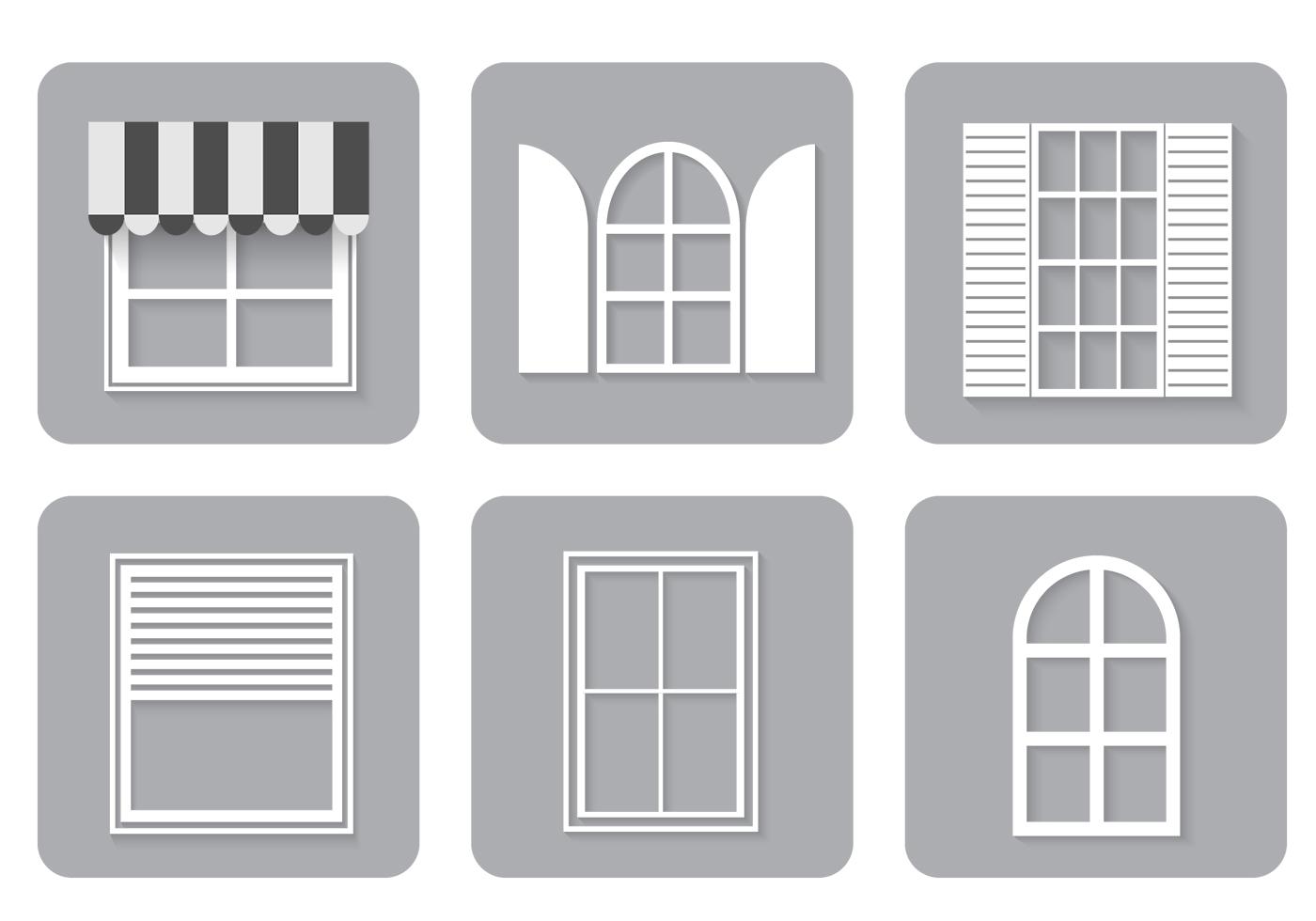 Icônes de fenêtre Ensemble PSD - Pinceaux Photoshop gratuits sur Brusheezy