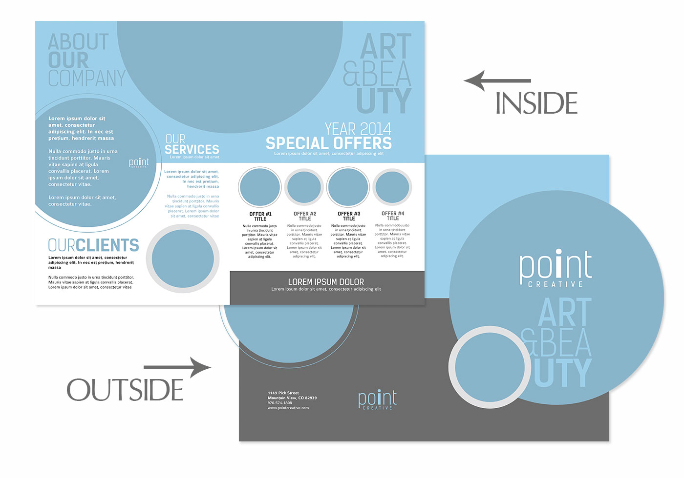 pamphlet photoshop template - bifold brochure psd template pack free photoshop brushes