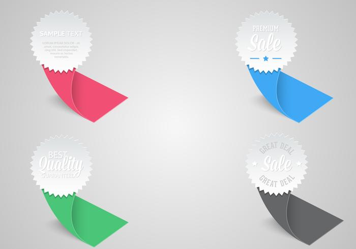 Award Ribbon Etiketter PSD Pack