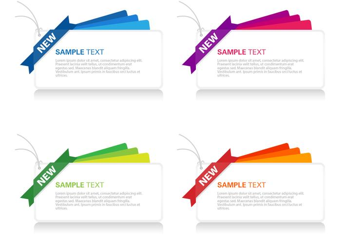 Bright Layered Banner PSD Set