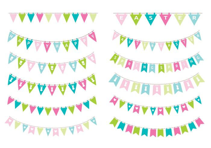 Paquet PSD Spring Easter Bunting