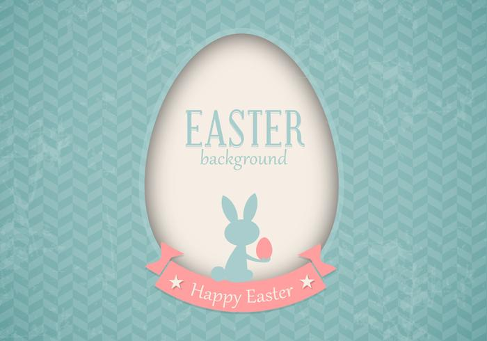 Retro Easter Card PSD