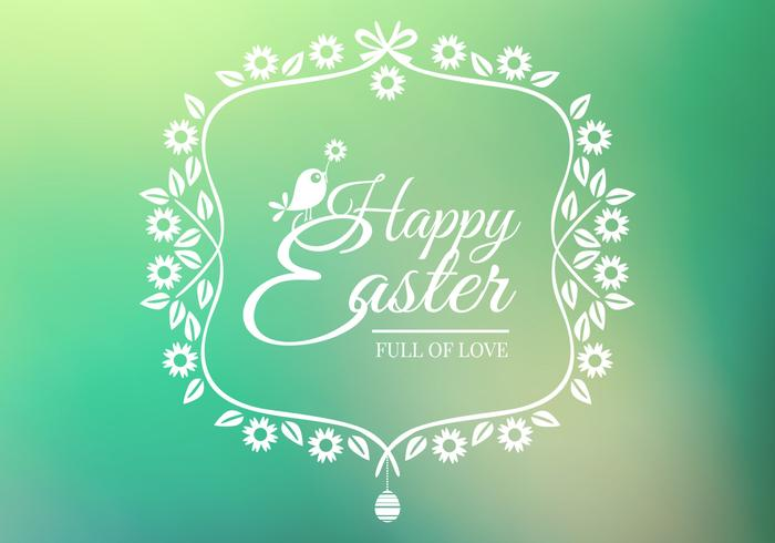 Bokeh Happy Easter PSD Background