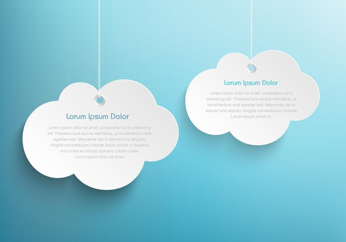 Hanging Clouds Background PSD