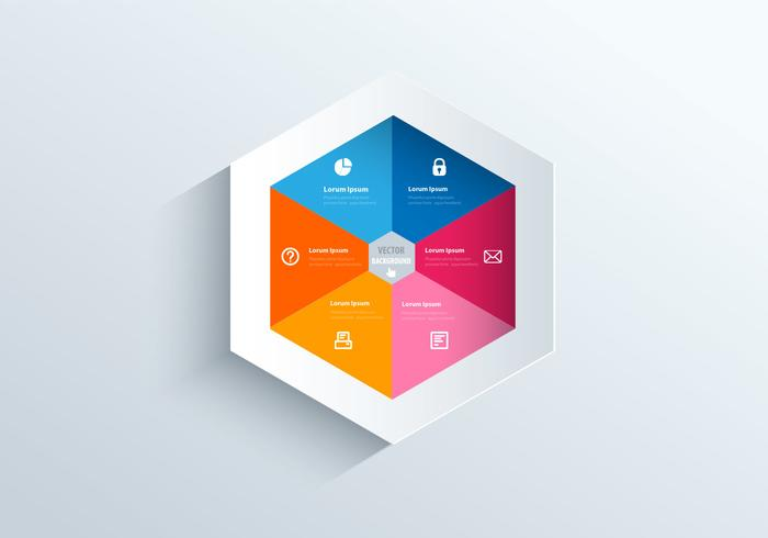 Hexagon sjabloon psd